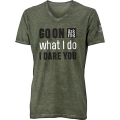 'I dare you' Trendy Shirt Man - oliwkowa zieleń